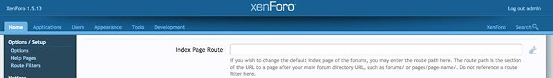 custom homepage in xenforo
