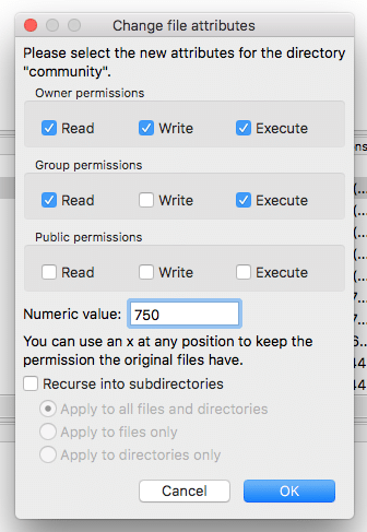 Write Permission for files