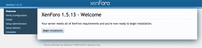 install xenforo step 1